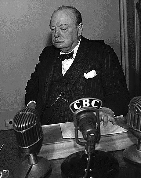 Churchill in Quebec, August 1943. Foto: FDR-Library, Photos of WW2 Collection / Public Domain